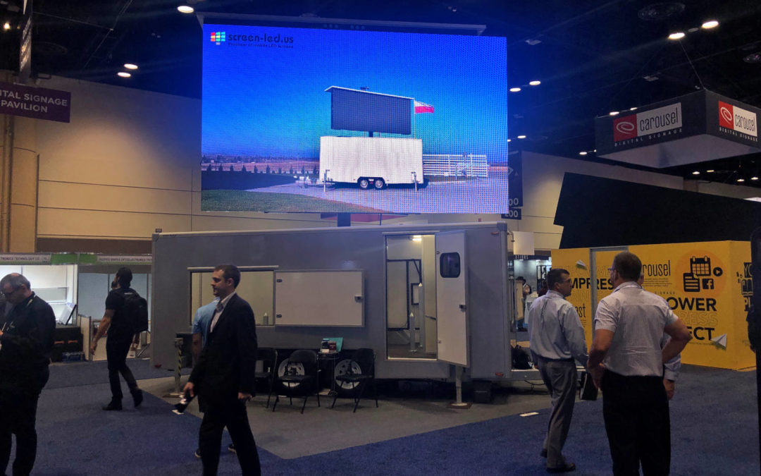 LED display trailer at Infocomm 2019 in Florida