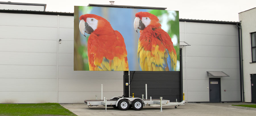 PlatformLED banner - black platform-based mobile led screen